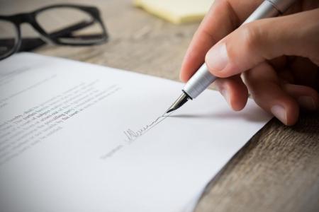 подписване на документи